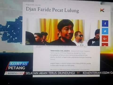 Lulung Dipecat Djan Faridz dari PPP dan DPRD, Gara-gara Dukung Anies-Sandi