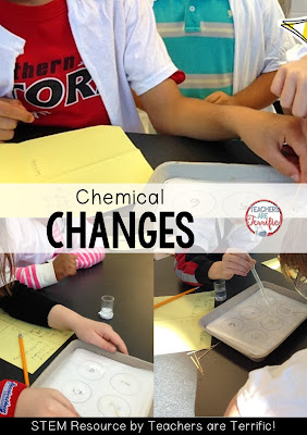 Chemical changes: Kids love wearing lab coats during this study! Check the blog post for details!