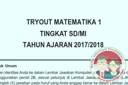 Soal MATEMATIKA USBN SD 2018 Disertai Kunci Jawaban