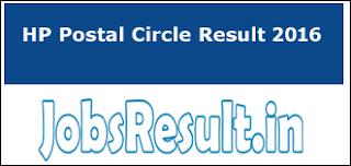 HP Postal Circle Result 2016