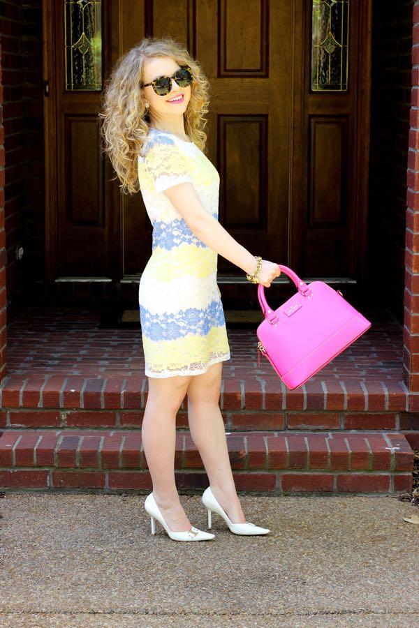 The Mint Julep Boutique Gotta Get Going Dress, Yellow-Blue