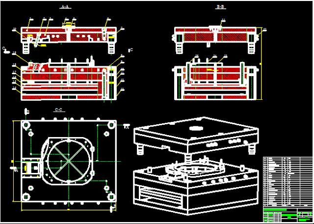 Bản vẽ khuôn mở vỏ nhựa quạt tính toán thiết kế bằng caitia