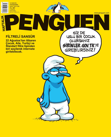 penguen şirinler karikatür