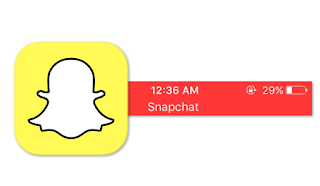 Why Is There A Red Bar Saying Snapchat At Top Of Screen Banner?