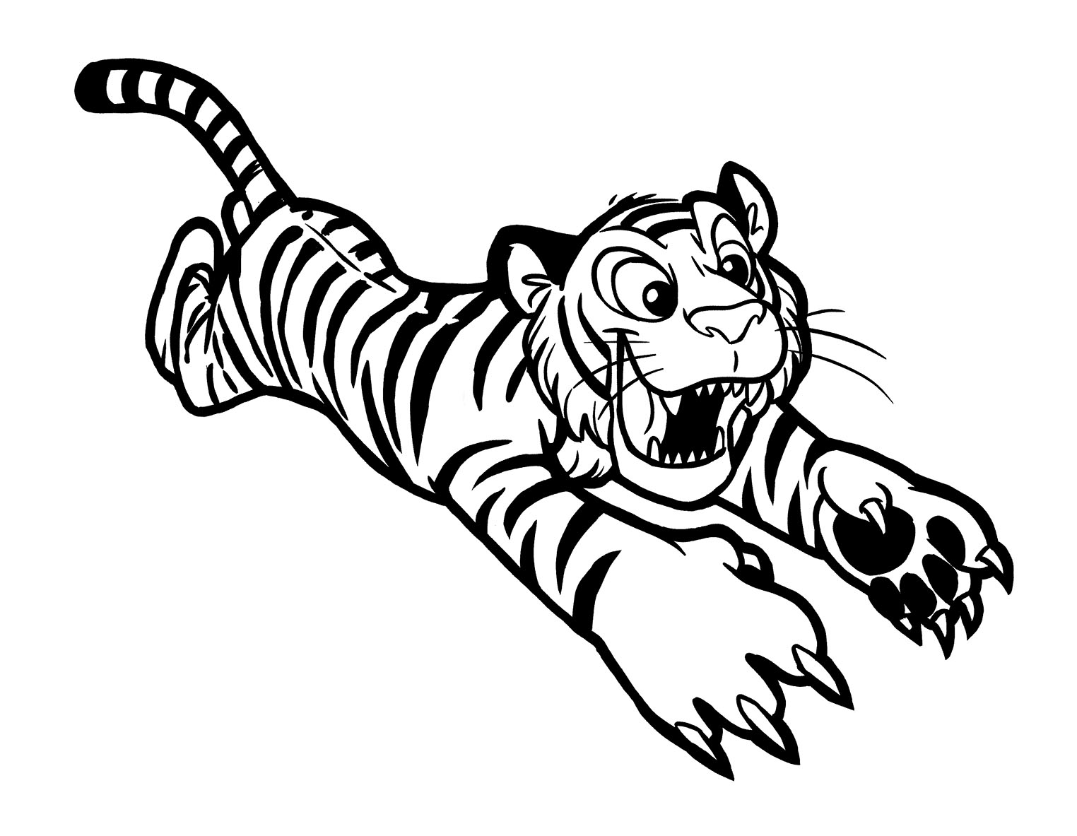 Tranh tô màu con hổ săn mồi