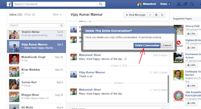 How to delete chat conversations on Facebook