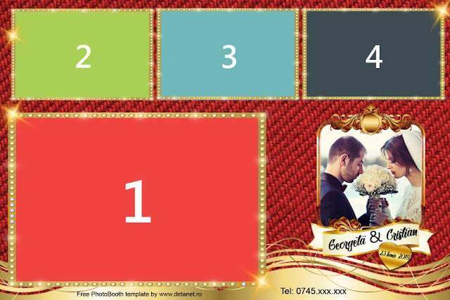 Template Photobooth Elegant-Red
