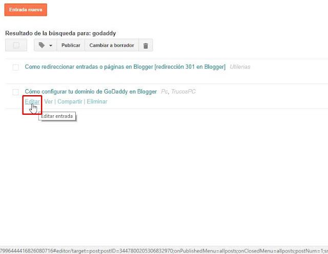Cómo Personalizar la URL o dirección de las Entradas
