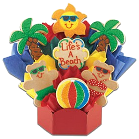 adorable cookie bouquet life's a beach