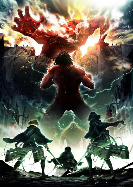 Plakat drugiego sezonu Attack on Titan