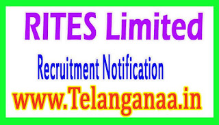RITES Limited Recruitment Notification 2017