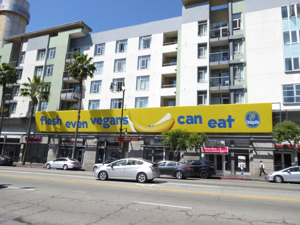Flesh even vegans can eat Chiquita banana billboard