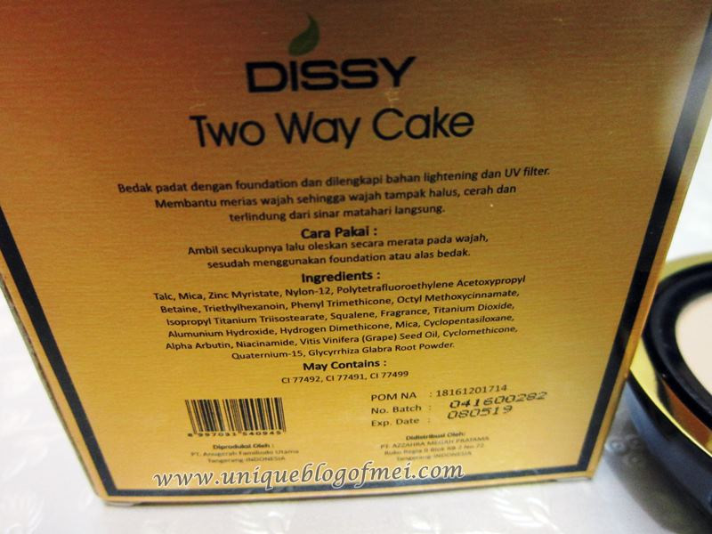 DISSY Two Way Cake detail