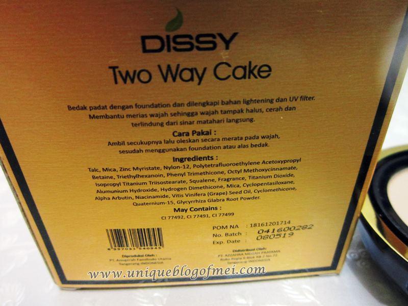 DISSY Two Way Cake detail