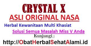 Crystal X Pembersih Kewanitaan herbal tradisional yang bagus dan aman
