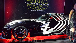Kylo Ren car at the Star Wars: The Force Awakens premiere after party.