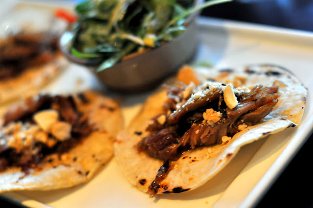 Duck Confit Tacos with Mandarin Ginger Asian Slaw - Carpe Diem Wine Bar - Napa, CA | Taste As You Go