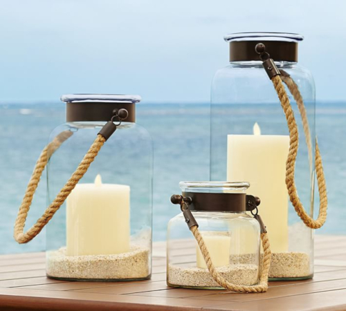 Rope Handle Candle Lanterns