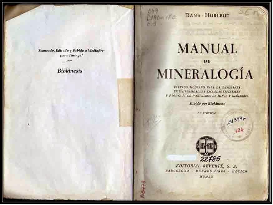 Manual de Mineralogia | Dana - Hurlbut | en español