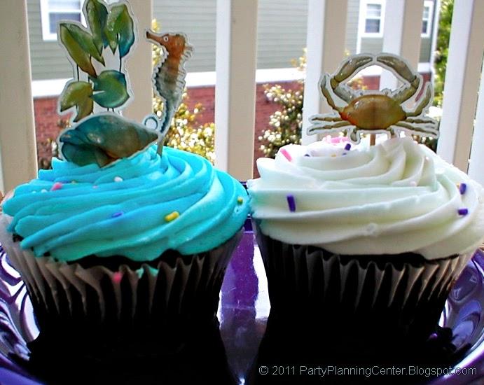 Party Planning Center Free Printable Beach Theme Cupcake