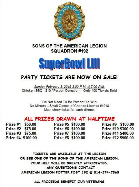 2-3 Superbowl Party Tickets Now On Sale