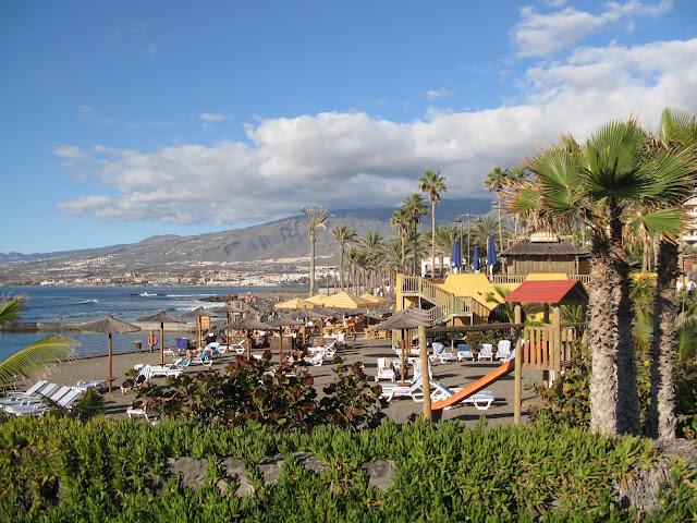 spiaggia di Las Americas, una delle migliori a Tenerife, Isole Canarie