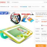 Beli Tablet Murah China (Tablet Anak) di AliExpress Harga $40