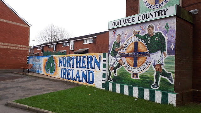 Mural, belfast, irish football