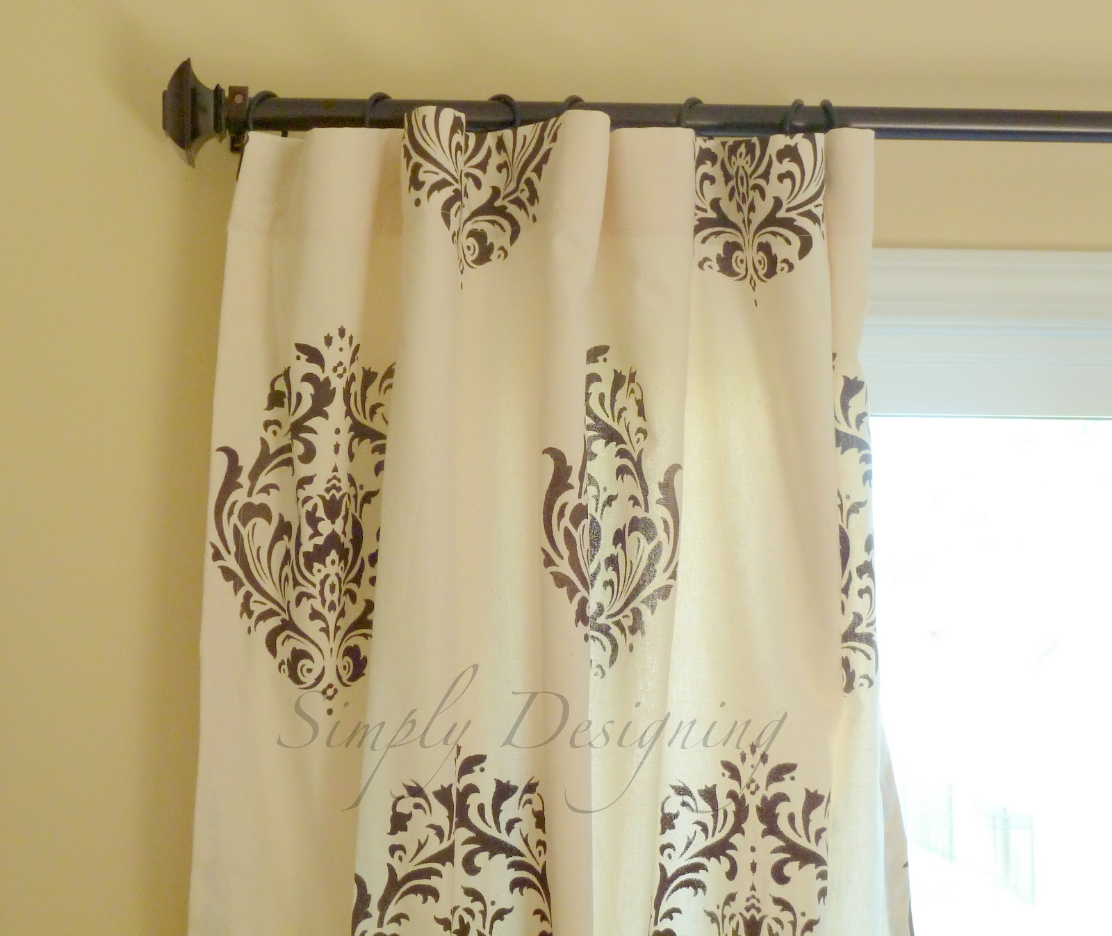 kitchen curtain best stainless steel sink diy stenciled curtains and a {giveaway} from cutting edge ...