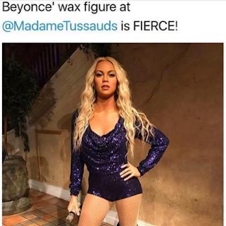 Beyonce Wax Figure Madame Tussauds