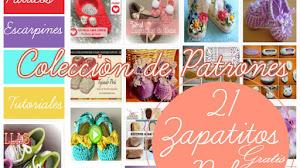 21 Patrones de patucos o Escarpines de Bebé / Colección