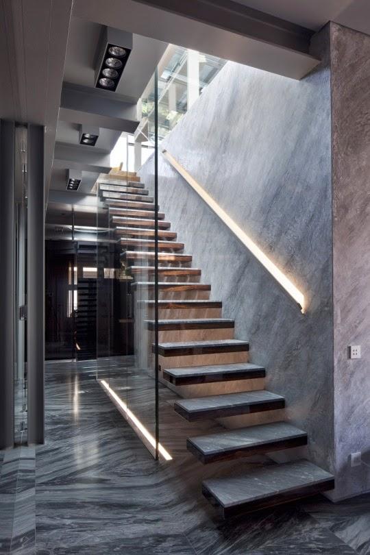 Casas minimalistas y modernas escaleras modernas for Casas minimalistas modernas interiores