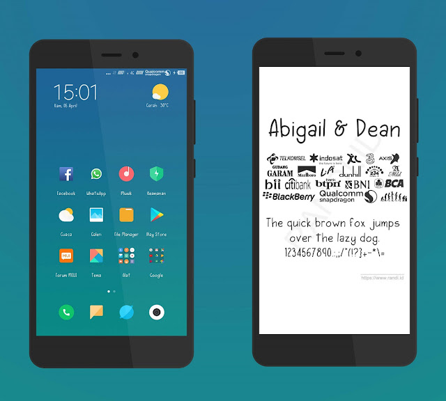 [Font MIUI] Abigail & Dean Unicode Mtz