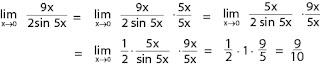 Contoh soal limit fungsi trigonometri dan pembahasannya nomor 2