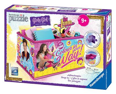 TOYS : JUGUETES - DISNEY Soy Luna Girly Girl - Puzzle 3D Caja Organizador Ravensburguer 12090 | SERIE TELEVISION 2016 216 piezas | A partir de 9 años Comprar en Amazon España
