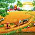 Tranh phong cảnh mùa gặt