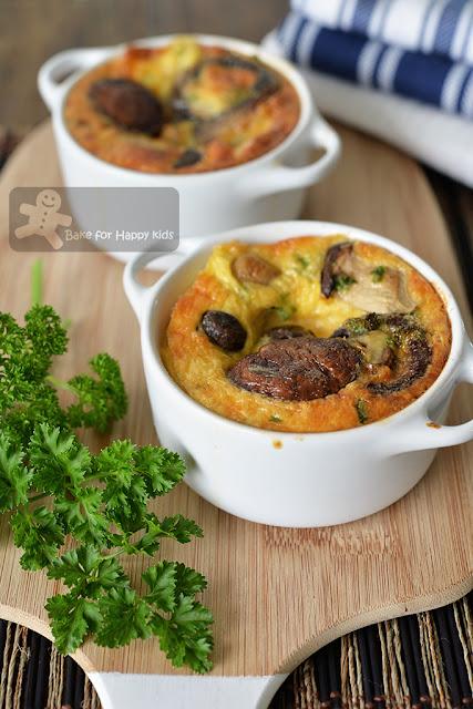 quick easy mushroom frittata vegetarian