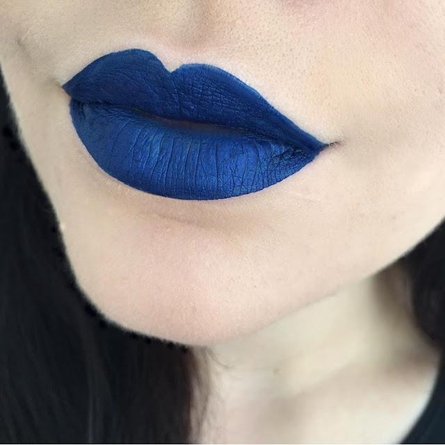 abh, anastasiabeverlyhills, liquid lipstick, paint, blue lipstick
