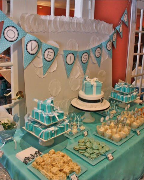 Tiffany Wedding Ideas: A Tiffany & Co Inspired Bridal Shower
