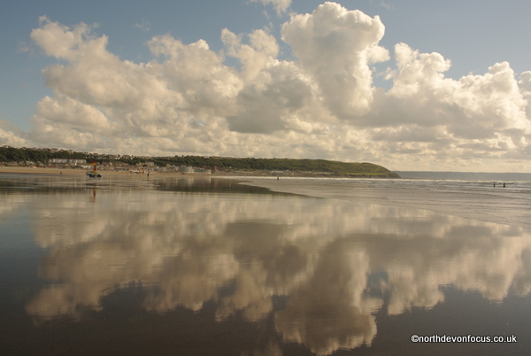 The Blue Flag Beach at Westward Ho! copyright Pat Adams (All rights reserved)