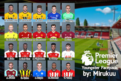 PES 2017 Premier League Youngster Facepack 2019 by Mirukuu