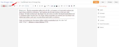 cara membuat garis di postingan blog