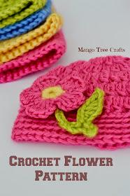 Crochet Flower Applique Pattern