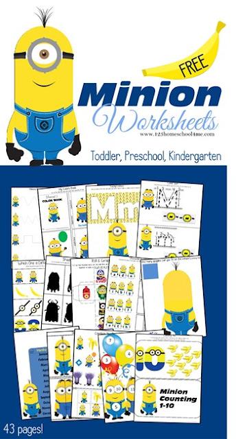 free printable minion worksheets for homeschool