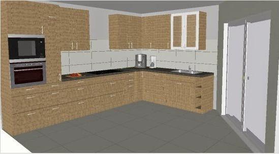 Unser Winkelbungalow Die Küche