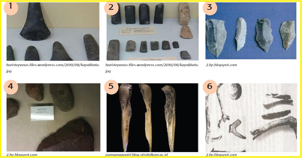 alat yang digunakan masyarakat pada masa itu terbuat dari Teknologi Peninggalan Zaman Batu