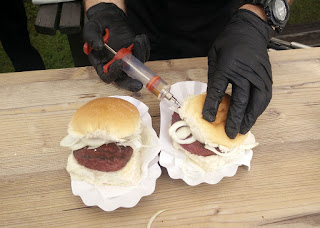 Injecting Lagavulin into our burgers