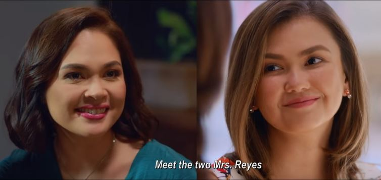 Judy Ann Santos as Cindy and Angelica Panganiban as Lianne in 'Ang Dalawang Mrs. Reyes'