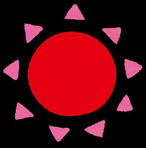 太陽のイラスト(赤)