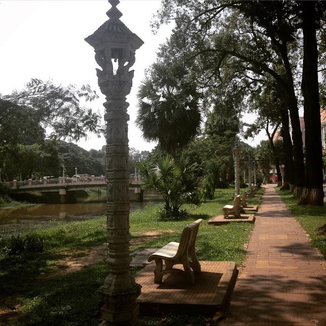 quiet river in Siem Reap, Cambodia